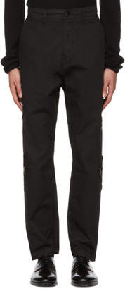 Stone Island Shadow Project Black Zipped Up Trousers
