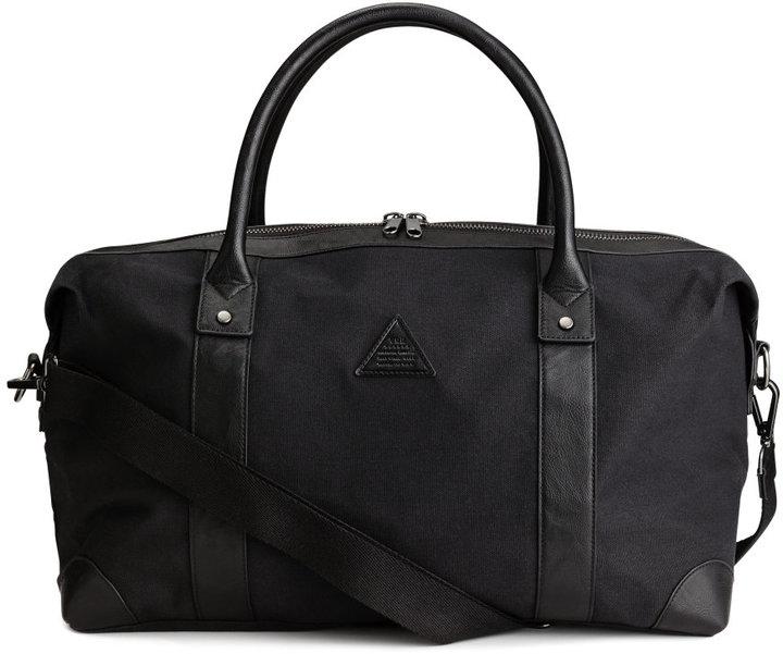 H&M - Cotton Canvas Weekend Bag - Black - Men