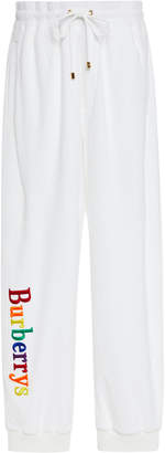 Burberry Rainbow Logo Cotton-Jersey Joggers