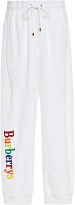 Burberry Rainbow Logo Cotton-Jersey Joggers