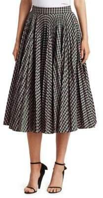 Calvin Klein Check Taffeta Circle Skirt