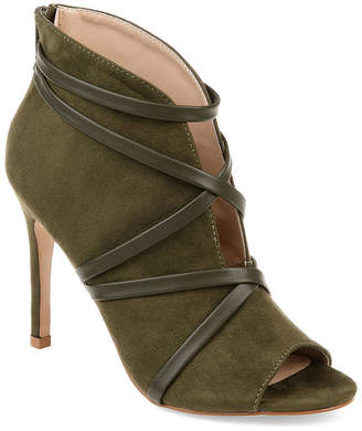 Journee Collection Womens Samara Booties Stiletto Heel Zip