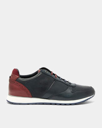 Ted Baker SHINDL Two-tone leather trim sneakers