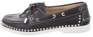 Christian Louboutin Christian Louboutin Steckel Spiked Boat Shoes