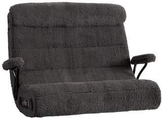 Pottery Barn Teen Charcoal Sherpa Faux-Fur Double Got Game Chair