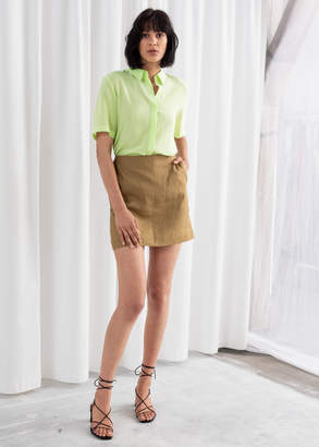 And other stories Linen Mini Skirt