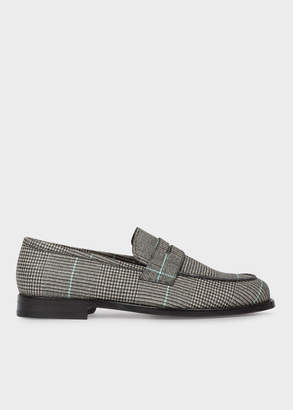 Paul Smith Men's Black And White Check 'Wolf' Loafers
