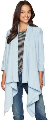 Lucky Brand Knotted Draped Top Women's Clothing