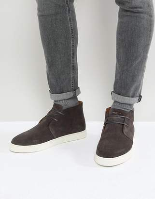 Selected Suede Mid Top Sneakers