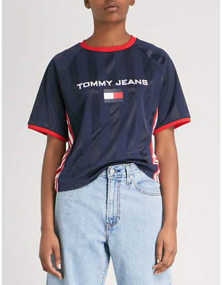 Tommy Jeans Cropped woven T-shirt