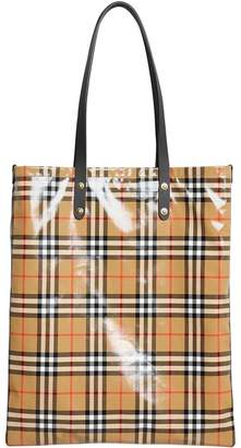 Burberry Large Coated Vintage Check Shopper