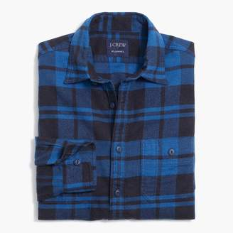 J.Crew Plaid tall flannel workshirt