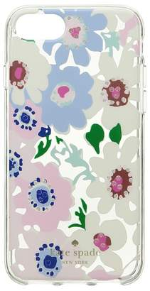 Kate Spade Jeweled Daisy Garden Clear Phone Case for iPhone 8 Cell Phone Case