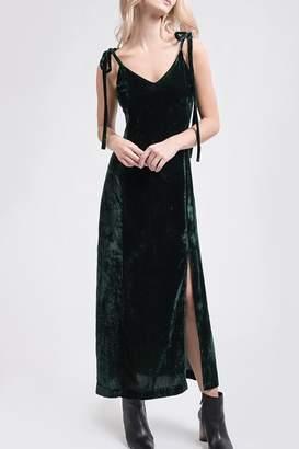 J.o.a. Velvet Maxi Dress
