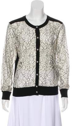 Karl Lagerfeld Embellished Lace Cardigan w/ Tags