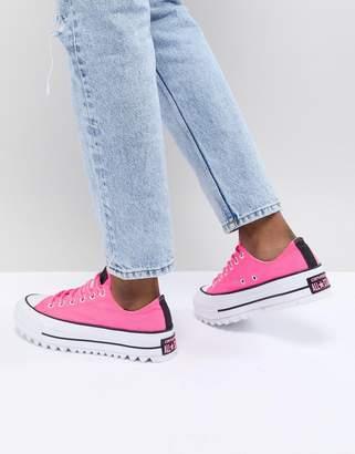 Converse Platform Ripple Sneakers In Pink