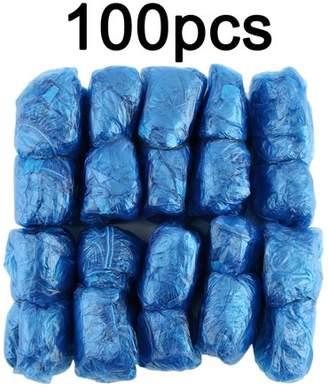 LESHP 100Pcs/Set Disposable Plastic Shoe Covers Rooms Outdoors Waterproof Rain Boot Carpet Clean Hospital Overshoes Shoe Care Kits