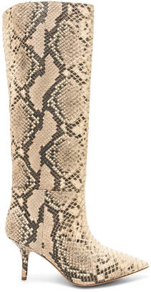 Yeezy Season 7 Python Embossed Knee High Boots
