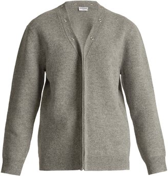 V-neck wool-blend cardigan