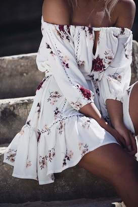 Factory Unknown Off Shoulder Dress