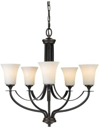 Feiss Lighting Modern Chandelier With White Glass