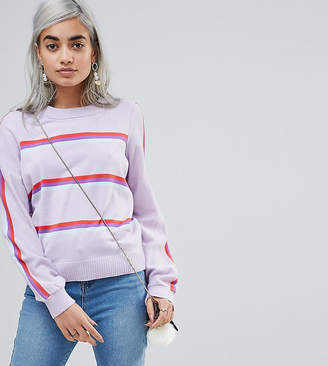 Asos (エイソス) - Asos Petite ASOS PETITE Sweater With Multi Stripe