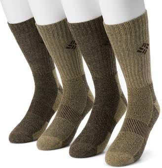 Columbia Extended Size Moisture-Control Performance Crew Socks