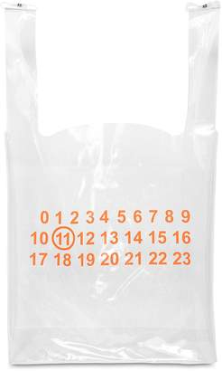 Maison Margiela Pvc Transparent Logo Tote Bag