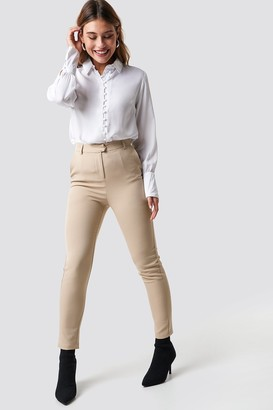 Na Kd Classic Tailored Straight Suit Pants Black