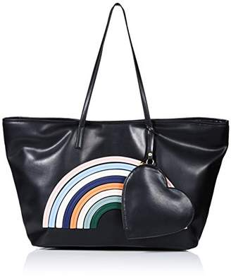 "Dear Drew by Drew Barrymore""on The Go Petit Vegan Leather Rainbow Tote Bag"