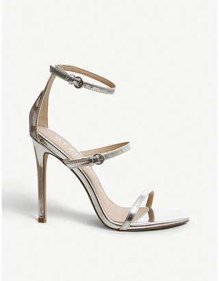 Office Hush metallic faux-leather strappy sandals