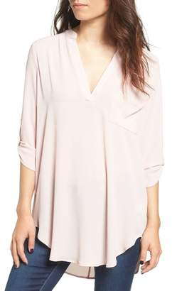 Lush Perfect Roll Tab Sleeve Tunic $42 thestylecure.com