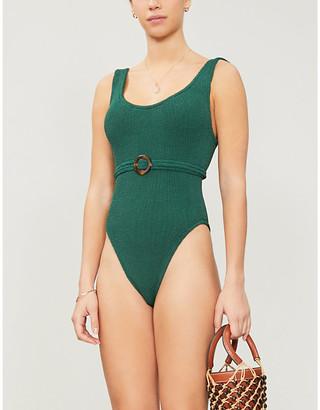 Hunza G Solitaire scoop-neck high-leg swimsuit