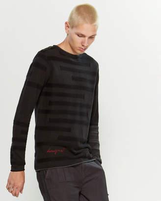 Desigual Contrast Stripe Sweater