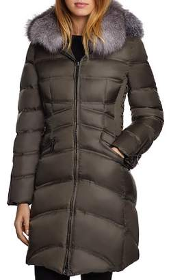 Dawn Levy Cloe Saga Fur Trim Mid-Length Down Coat