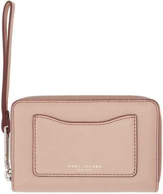 Marc Jacobs Pink Leather Recruit Wallet $155 thestylecure.com