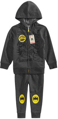 Dc Comics Little Boys 2-Pc. Batman Hoodie & Pants Set