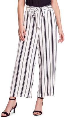 BB Dakota Belt With You Striped Wide-Leg Pants