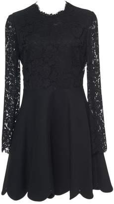 Valentino Black Lace Mini Flare Dress