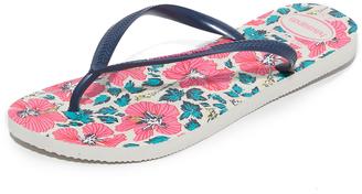 Havaianas Slim Floral Flip Flops $30 thestylecure.com