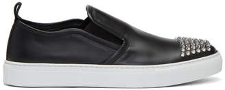 McQ Black Studded Chris Slip-On Sneakers