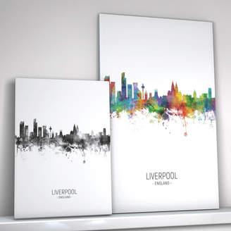 artPause Liverpool Skyline Portrait Print And Box Canvas