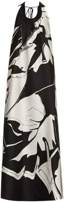 Roberto Cavalli Cotton and silk-blend jacquard gown