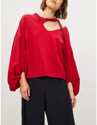 Hellessy Balloon sleeve woven blouse