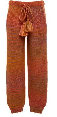 LoveShackFancy Blossom Knit Multicolor Pant