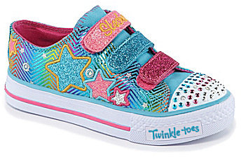 Skechers Girls' Twinkle Toes: Shuffles - Triple Up Casual Sneakers