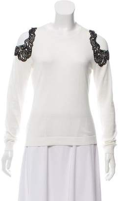 Yigal Azrouel Cold-Shoulder Knit Sweater