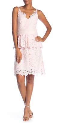 Ted Baker Lace Detail Peplum Dress