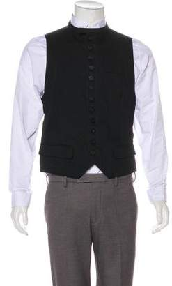 Ann Demeulemeester Virgin Wool-Blend Twill Denim Suit Vest