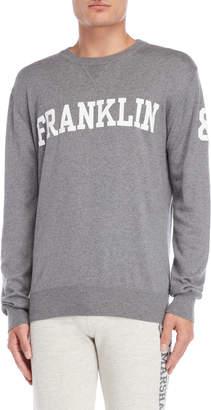 Franklin & Marshall Grey Logo Pullover Sweater